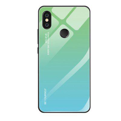 Gradient Tempered Glass Back Phone Case for Xiaomi Redmi Note 6 Pro