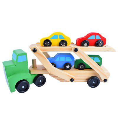 Wooden Truck Transporter Children Intelligence Toy