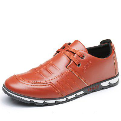 MORIYUKI Man New Casual Flat Lace-up Simple Stylish Oxford Leather Shoes For Men