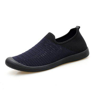 Men Casual hollow out Mesh  Slip on Breathable Sneakers Summer  outdoor chic new