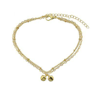 Fashion Jewelry Gold Silver Colore Multi Layer Chain Bells Anklet