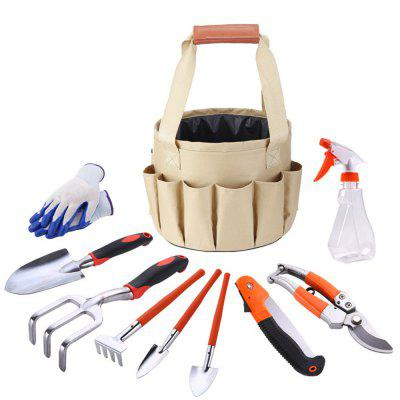 Gardening Hardware Tool Kit Bucket Organizer Storage Carry Bag Set 10PCS