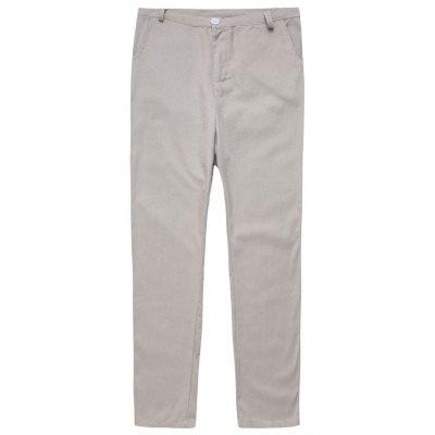Men's  Loose Large Size Straight Casual Cotton Linen Trousers