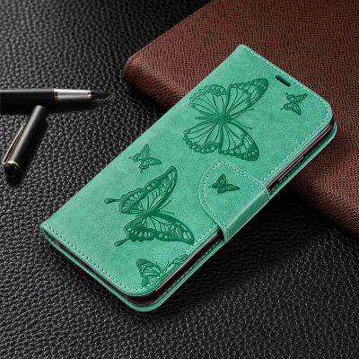 Solid Color Two Butterfly Embossing Phone Case for Xiaomi Redmi Note 7