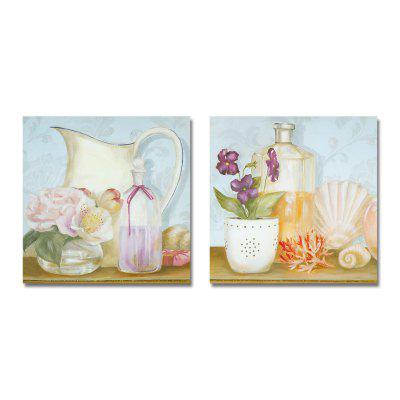 DYC Graceful Flowers in Retro Antiquity Print Art 2PCS