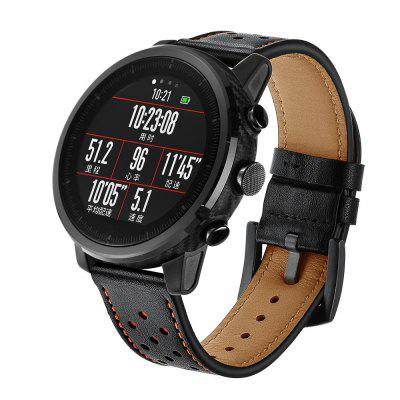 Leather Watch Band Wrist Strap for Xiaomi AMAZFIT Pace Stratos 2 / 2S