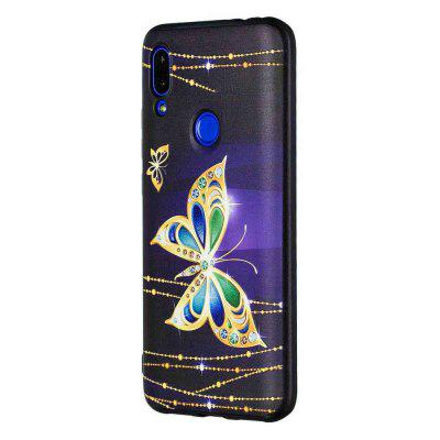 Big Butterfly Painting TPU Phone Case do Xiaomi Redmi 7