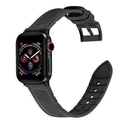 Leather Silicone Watch Band Wrist Strap for Apple Watch Series 1 2 3 4 42MM 44MM