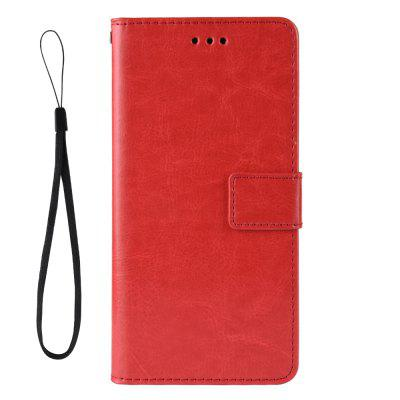 Crazy Horse PU Leather Phone Case For LG K50 / LG Q60, Black;red;brown;gold