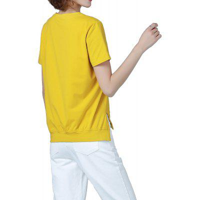 Summer New Solid Color Round Neck Simple Ladies Plus Size T-Shirt
