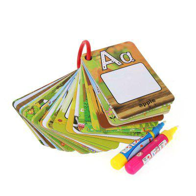 26 Letters Water Picture Card Children Early Education Toy