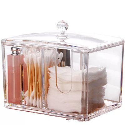 Thickened Simple Cosmetic Cotton Swab Storage Box with Cover