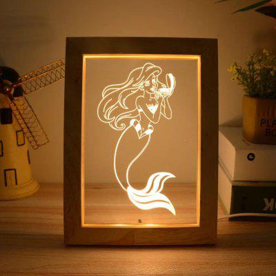 3D Night Light LED Photo Frame Lamp Bedside Lamp