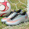 Adults Outdoor Soccer Cleats High Top Football Training Sports Sneakers for Men - LIGHT GRAY