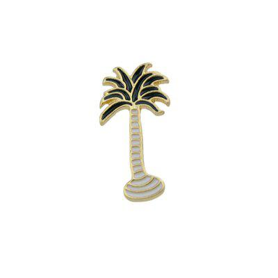 Fashion Golden Drip Tropical Coconut Tree Brooch