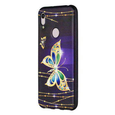 Big Butterfly Painting TPU Phone Case do Huawei Y6 2019 / Y6 Pro 2019