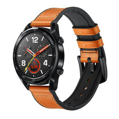 Watch Band for Huawei Watch GT Genuine Leather / Silicone Wrist Strap