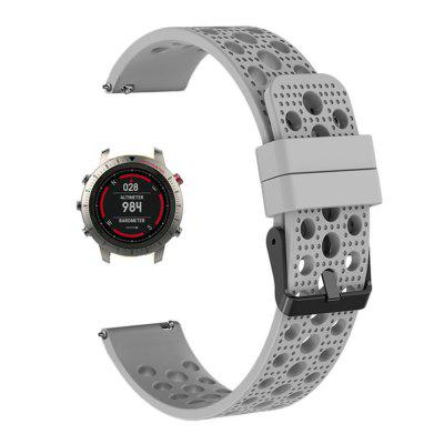 Soft Silicone Replaceable Watch Band Wrist Strap for Garmin Fenix Chronos