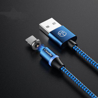 CaseMe Magnetic Charger Cable Nylon USB Phone Fast Charging LED Light for 8 Pin