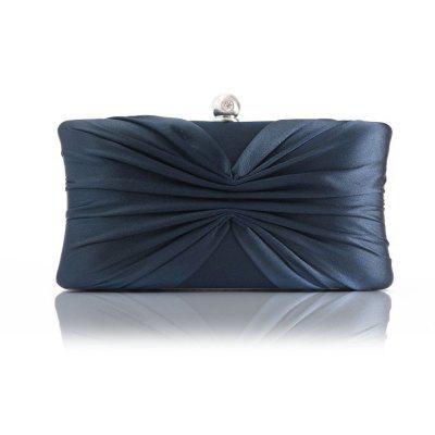 lady bow pleat holding banquet bag