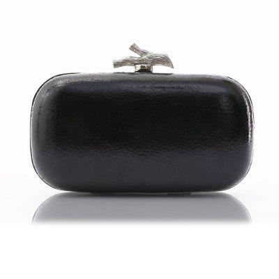 Lady'S Twig Buckle Switch Leather Clutch Party Bag Evening Bag