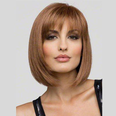 Fashion Intellectuality Woman Light Brown Hair High Temperature Synthetic Wig