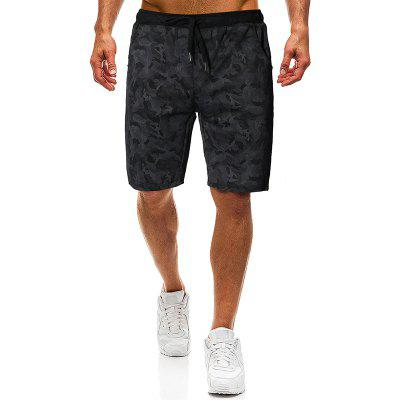 Men Fashion Camouflage Tether Belt Große Strandhose Lässige Shorts