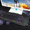 Y605 Metal Panel Wired Suspension Mechanical Lighted Gaming Keyboard - BLACK