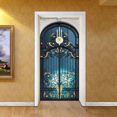 3D Door Sticker Wall Sticker Nástěnná Nálepka Decor Decor 2PCS
