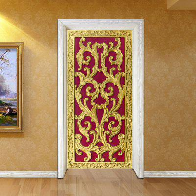 Etiqueta de la puerta 3D Etiqueta de la pared Mural Home Decor Red 2PCS