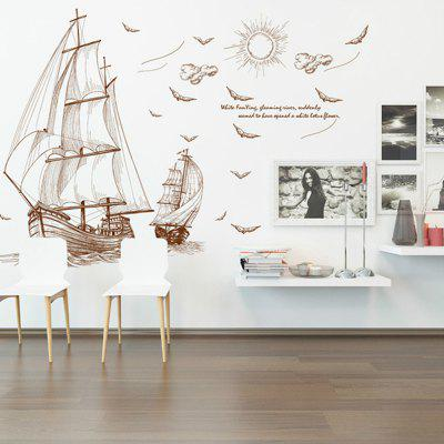 Sailing Wall Sticker Living Room TV Background Wall Decoration