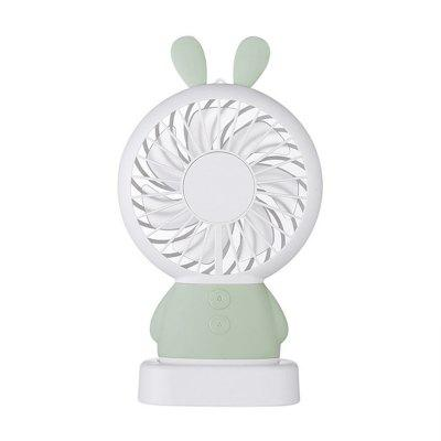 Mini and Exquisite Rabbit Dharma Bear Hand-Held Fan LED Night Light Portable Fan