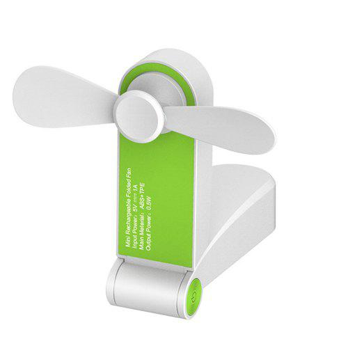 Fan USB Charging Small Fan Storage Folding Mini Multi-Function Floor Fan Desktop Fan Summer Mini Portable Cooling Fan Color : Pink