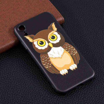 Big Owl Painting TPU Phone Case na iPhone Xr