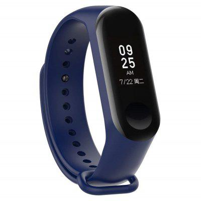 Silicone Smart Watch Strap with Anti-lost Ring for Xiaomi Mi Band 4