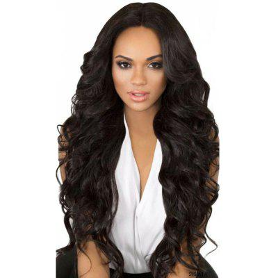 Fashionable Africa Synthetic Central Parting Hair Style Big Wave Long Wig