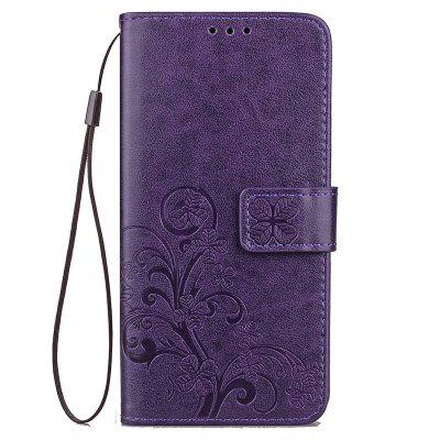 Four Leaf Clover Embossing Flower Leather Phone Case for Xiaomi Mi 6X / Mi A2