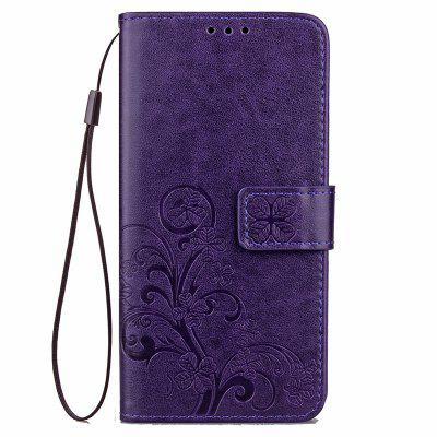 Four Leaf Clover Embossing Flower Leather Phone Case for Xiaomi Mi 5X / Mi A1
