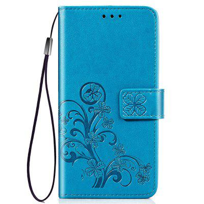 Four Leaf Clover Embossing Flower Leather Phone Case for Xiaomi Mi 9 SE