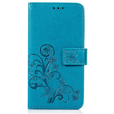 Four Leaf Clover Embossing Flower Phone Case for Nokia 6.1 Plus / Nokia X6