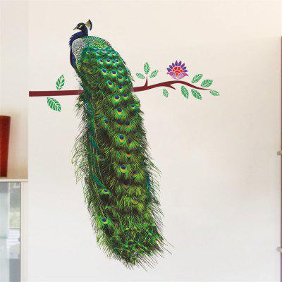 Peacock Living Room Porch TV Background Wall Decoration Wall Stickers