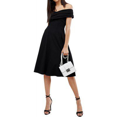 Simple and Sexy X-Shaped Cross-Pleated Atmospheric Slim Dress