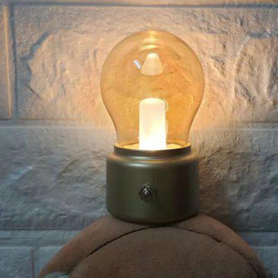 USB Retro Bulb Lamp Shape Rechargeable Night Light