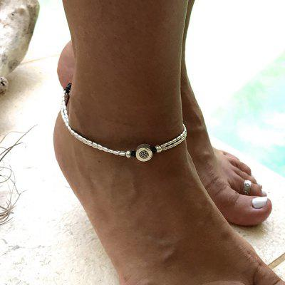 Silver Color Adjustable Charm Anklets 1PC