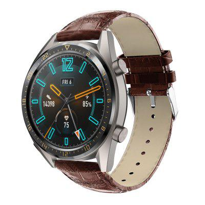 Crocodile Pattern Watch Band Leather Strap for HUAWEI GT Watch