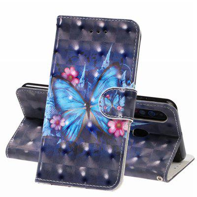 PU Leather 3D Wallet Flip Phone Case voor Samsung A60