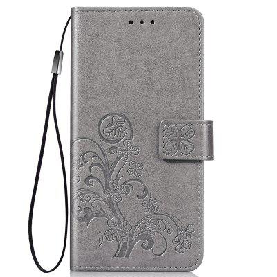 Four Leaf Clover Embossing Flower Leather Phone Case for Nokia 3.2