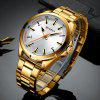 Curren Men's Fashion Casual Water Resistant Stainless Steel Quartz Watch - GOLD