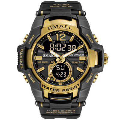SMAEL Men Fashion Creative Big Dial Chronograph Analog-Digital Sport Watch