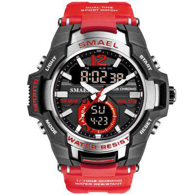 SMAEL Männer Fashion Kreative Big Dial Chronograph Analog-Digital Sportuhr